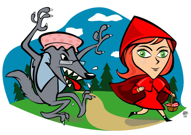 Hood clipart little red riding hood wolf The Good Grandmother Blogging Theodicy