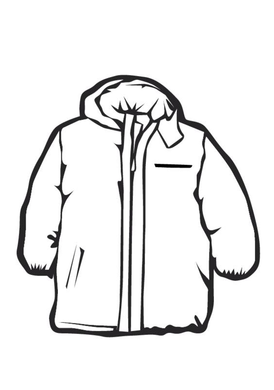Hood clipart winter coat Image on Free Art black