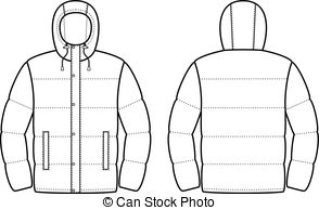 Hood clipart winter coat Front clip Clipart EPS Vector