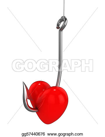 Hook clipart heart Drawing on hook fishing fishing