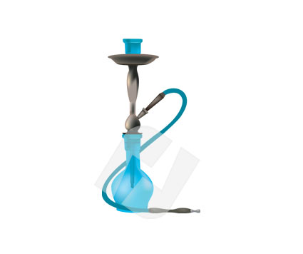 Hookah clipart black and white Vector Vector Clip 00230 com