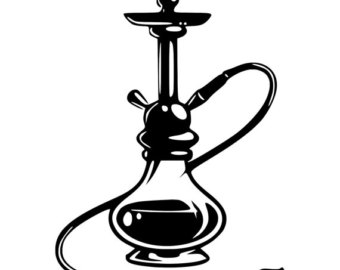 Hookah clipart black and white Etsy Laptop Bumper Decal Hookah