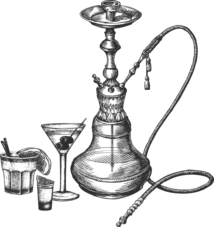 Hookah clipart black and white Bar & Bar I MAD