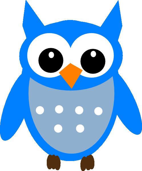 Hoot clipart Blue art Clker Hoot com