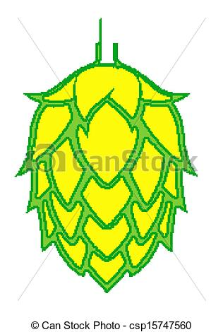 Hop clipart drawing Of Beer Vector Hop Brightly