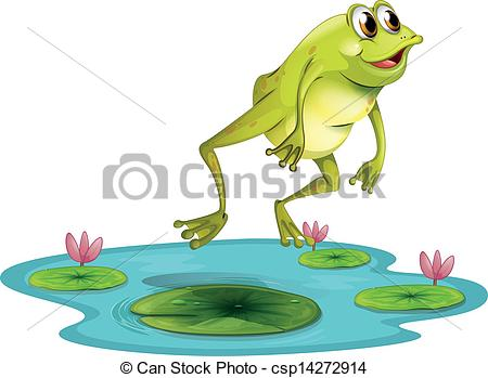 Hop clipart frog jumping Cute frog hopping clipart Cute