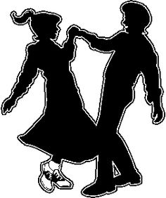 Danse clipart decoration Sock Sock 50s Dance Silhouette