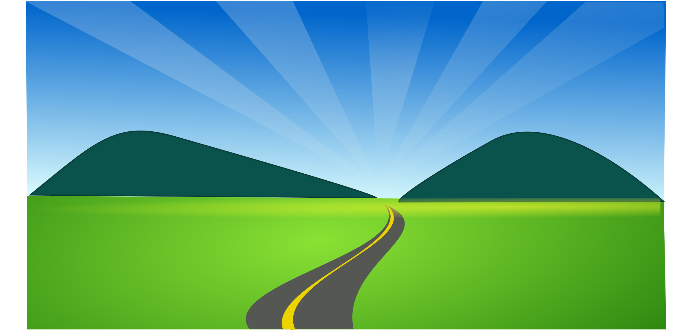 Countyside clipart gravel road Horizon Clip Horizon Images Clipartner
