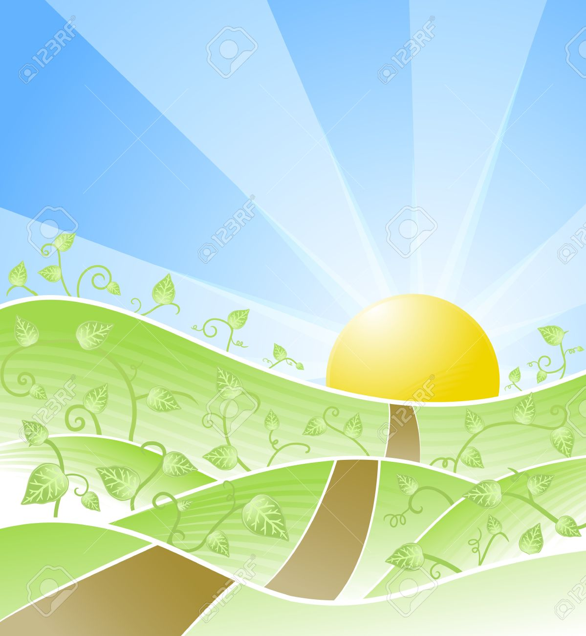 Beautiful clipart sunny day Clipart horizon Road Images Road
