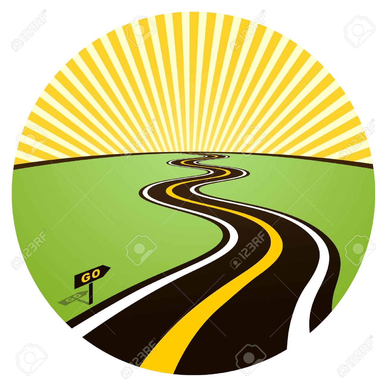 Highway clipart road map Horizon Art com Images Clipart