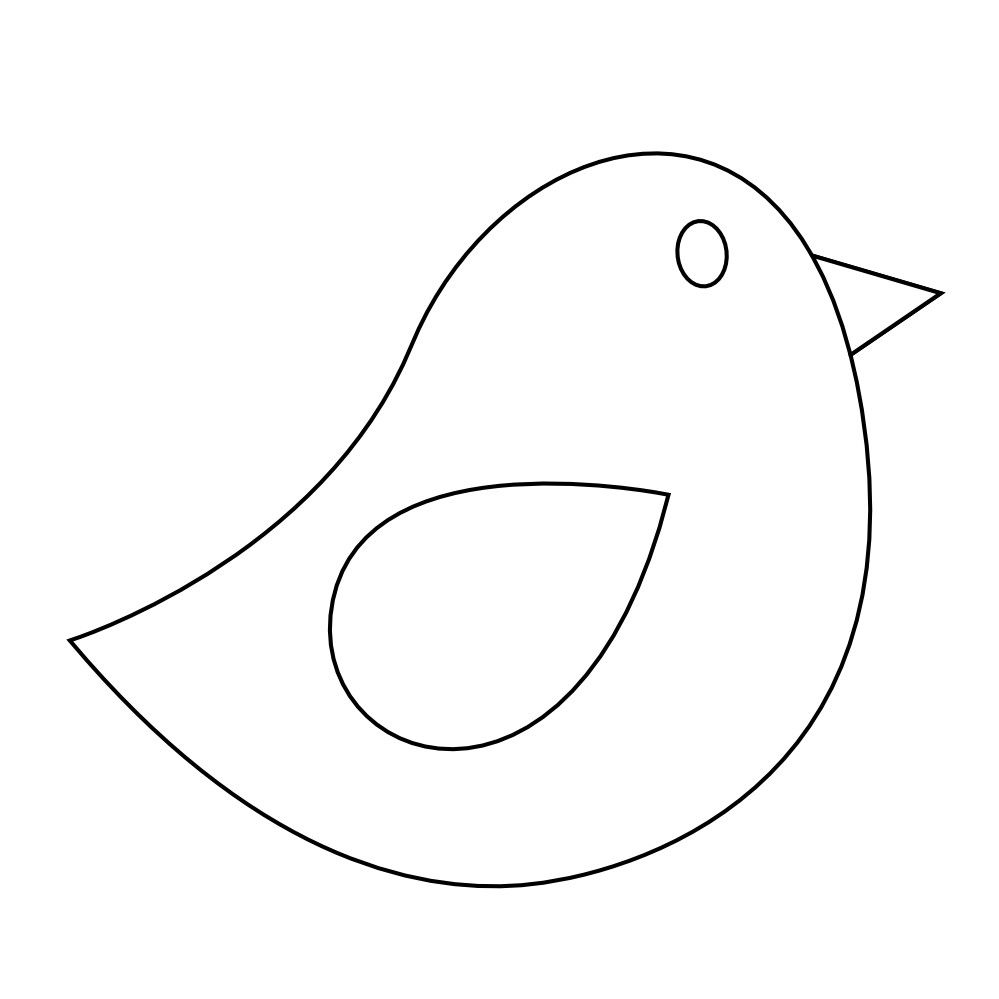White clipart birdblack Panda Bird Images Clipart White