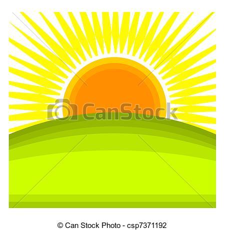 Drawn sunrise Sun Sunrise  green of