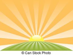 Morning clipart rising sun Vector with sun 16 560