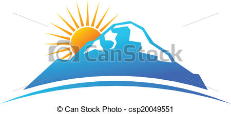 Mountain clipart mountain sun In Clipart horizon sun horizon