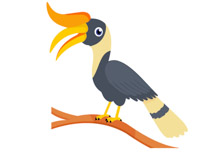 Hornbill clipart Search Bird tree Tree Results