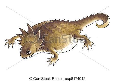 Horned Lizard clipart Art  lizard or or