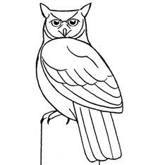 Barred Owl clipart black and white Horned Great owl Owl great