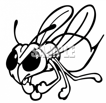 Hornet clipart black and white Free Hornet Hornet Clipart Clipart