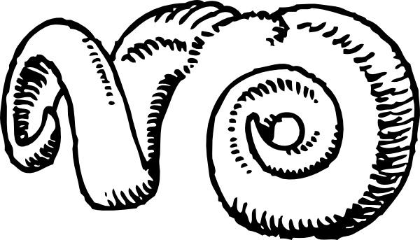 Horns clipart Art in Open svg Ram