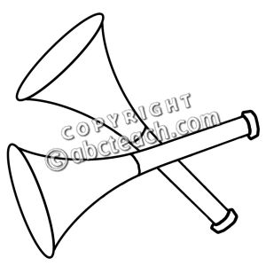 Party clipart party horn Black And White Horn White