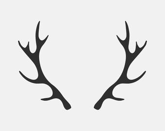 Buck clipart deer horn Deer Antlers Antler SVG SVG