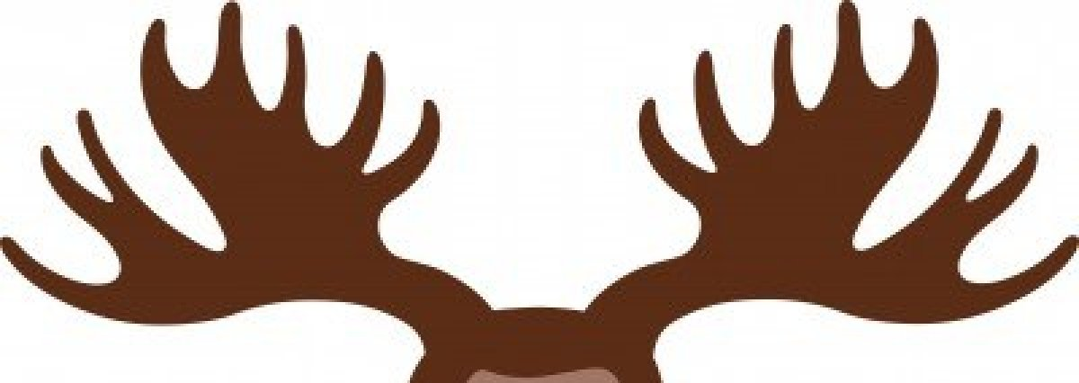 Antler clipart silhouette Clipart Clipart Moose Antler Free