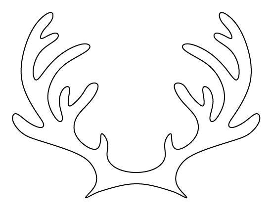 Drawn reindeer printable Pattern Reindeer pattern antlers reindeer