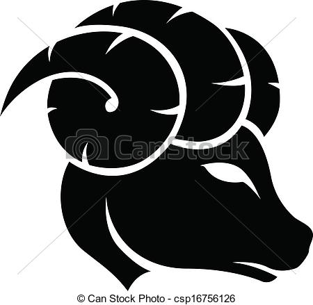 Horoscope clipart aries Zodiac Aries of Black Sign