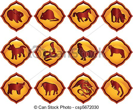 Astrology csp5672030 vector Chinese of