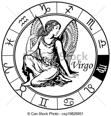 Zodiac clipart virgo Clipart Vector astrological virgo Vector