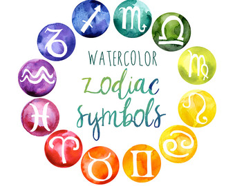 Zodiac Clipart Art clip Watercolor