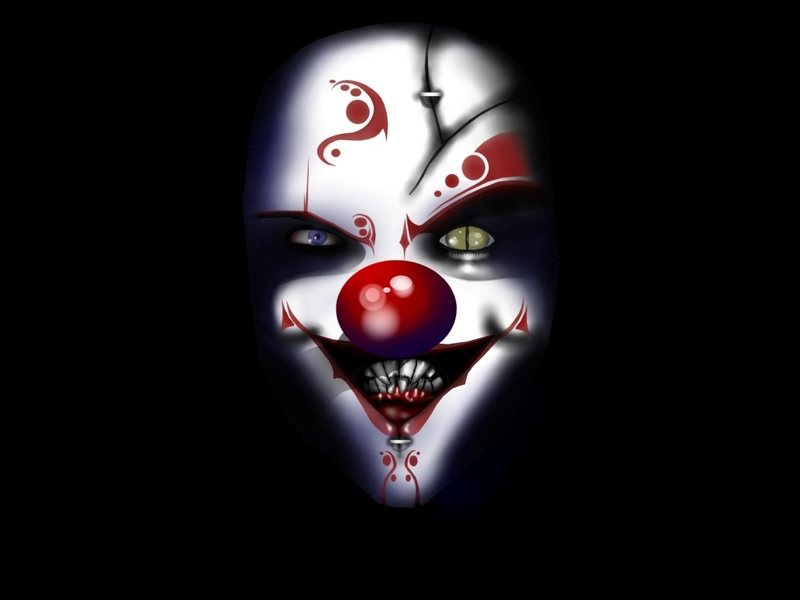 Joker clipart animated  Evil vector Evil Clown