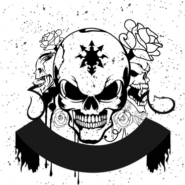 Horror clipart black and white White vector free Free background