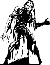 Horror clipart black and white Ghoul Halloween Clipart Free Clipart