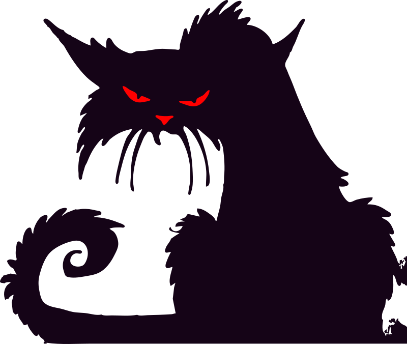 Black Cat clipart creepy Looking on Domain black projects