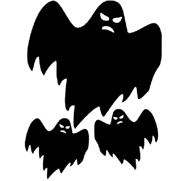 Spooky clipart ghost outline Clip art at Scary drawings