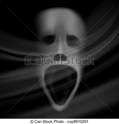 Spooky clipart ghost face Background horror of skull Ghost