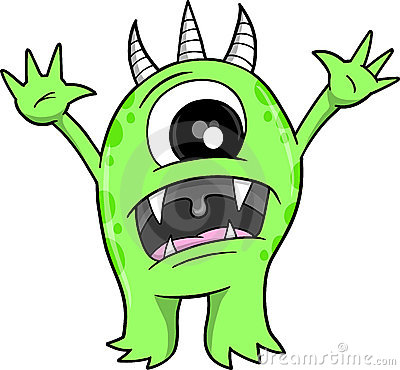 Beast clipart green Beast Scary Scary cliparts Clipart