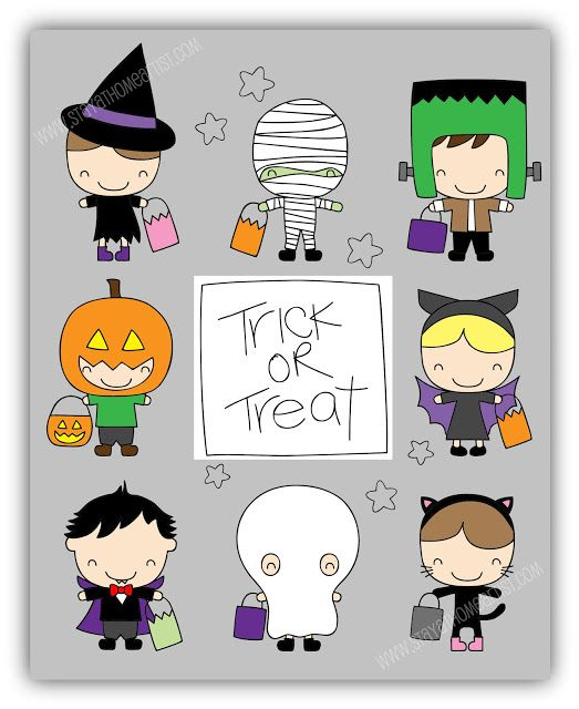 Horror clipart kids halloween #8