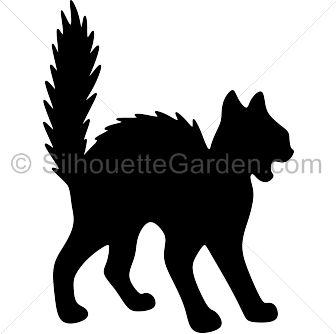 Black Cat clipart creepy Silhouette in clip 25+ ideas