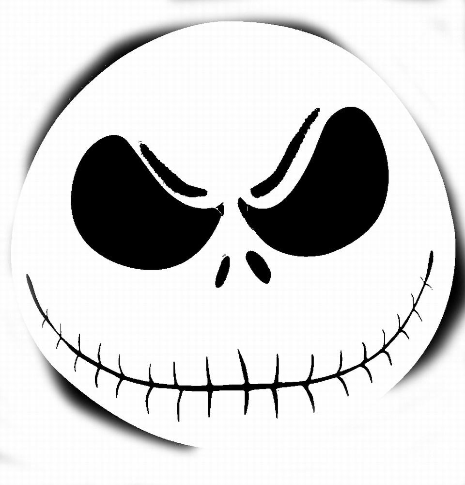 Horror clipart pumpkin Face skellington (96+) stencil Scary