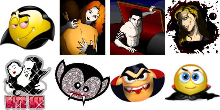 Smileys clipart vampire And icons  Emoticons Horror
