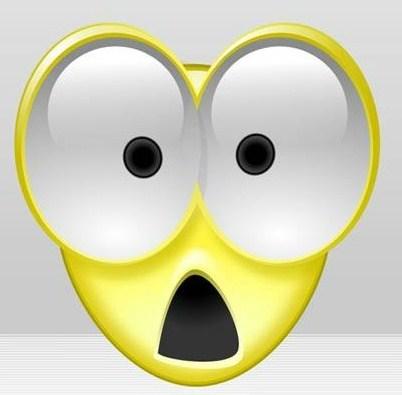 Horror clipart shocked face #7
