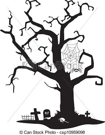 Spooky clipart tree  royalty clip tree royalty