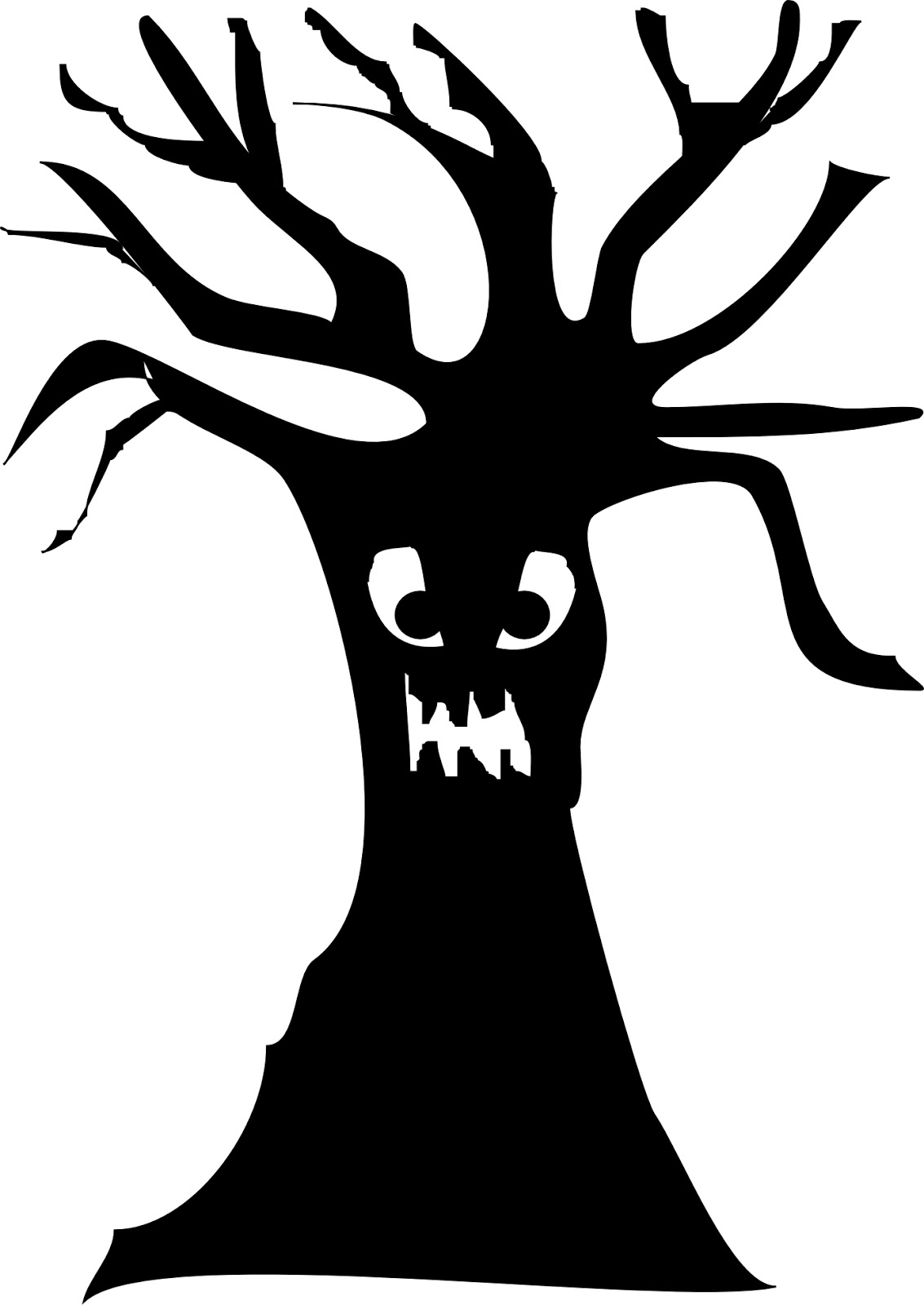 Horror clipart spooky tree Spooky Halloween Images Halloween typat
