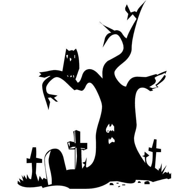 Horror clipart spooky tree Designs  ClipArt ClipArt Halloween