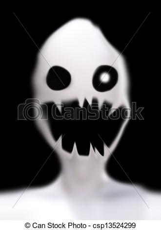 Ghostly clipart creepy Ghost Stock  face Scary