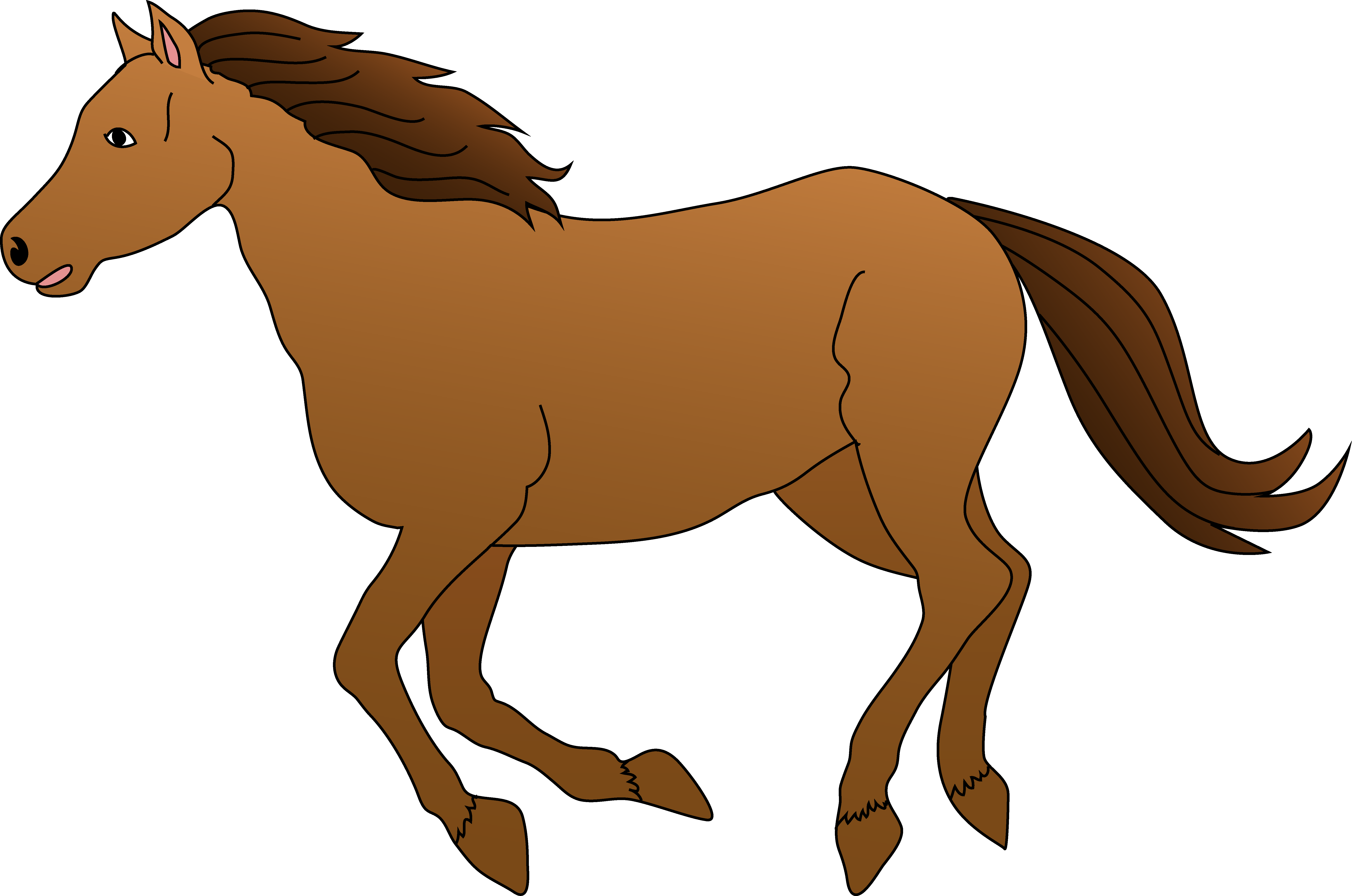 Horse clipart Galloping clip clipart Clipartix Brown