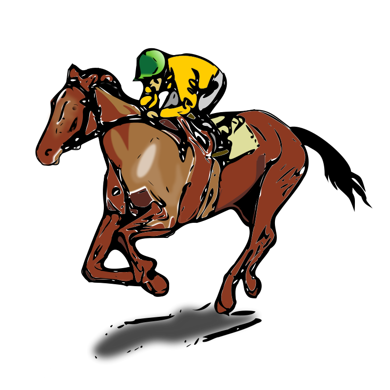 Horse Racing clipart Racing The Racing Horse Clipart