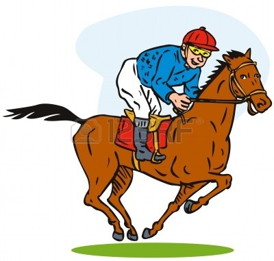 Horse Racing clipart Clip clipart Thoroughbred racing art